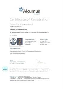 Certyfikat ISO 9001 ang